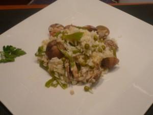 arroz con almejas y verduritas