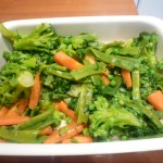 reservar las verduras