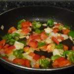 pochar los pimiento y la cebolla