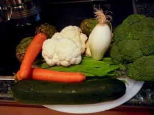 seleccionar verduras variadas