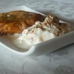 torrijas caramelizadas helado arroz con leche