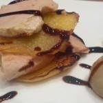 milhoja de foie y manzana al PX