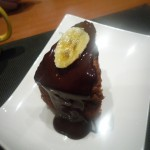 bizcocho de plátano con chocolate