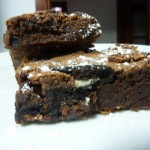 brownie con chips de oreo