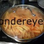 terminar la cocción en la salsa
