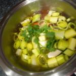 cocer las verduras